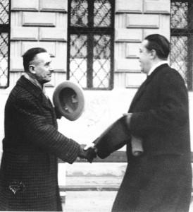 Márai Sándor Thomas Mann-t fogadja a Budai várban (1935)