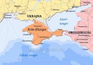 A Krím-félsziget térképe